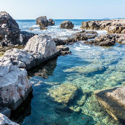 天性, 天空, 岩石, 岩石海岸 的 免费素材照片