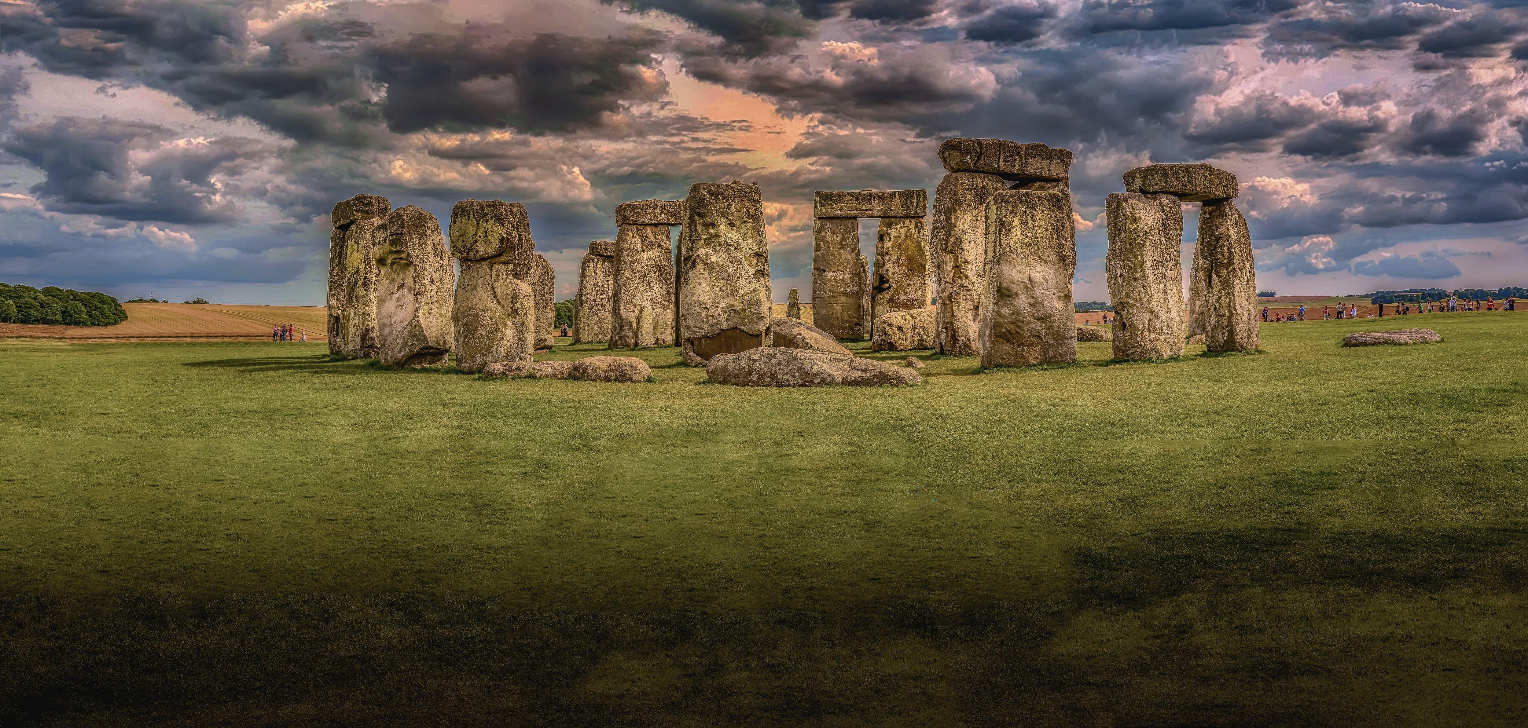 Stonehenge Under Nimbostratus Clouds