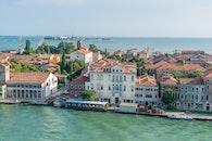sea, city, bird's eye view