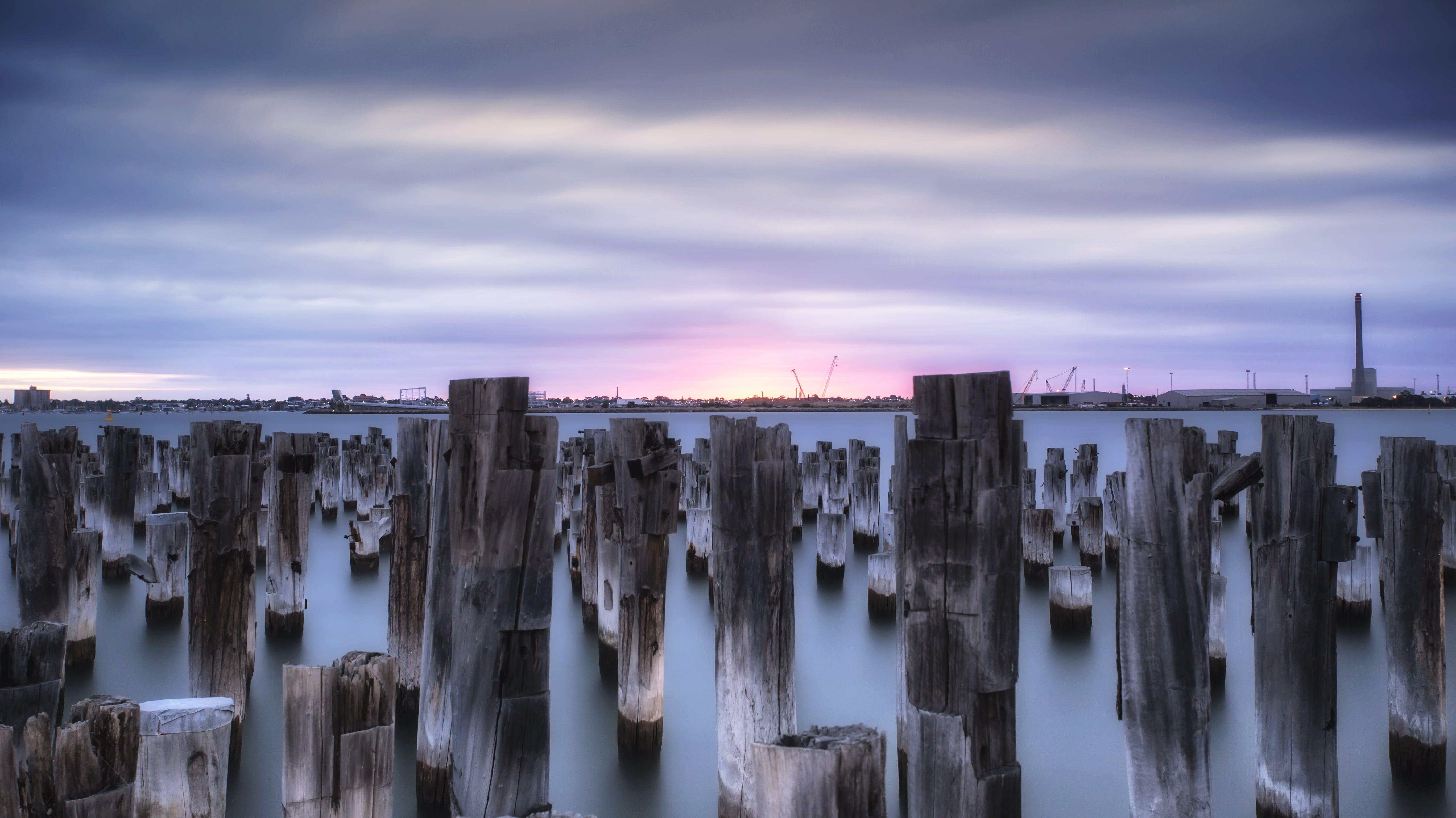 Foto stok gratis air, awan, indah, kayu