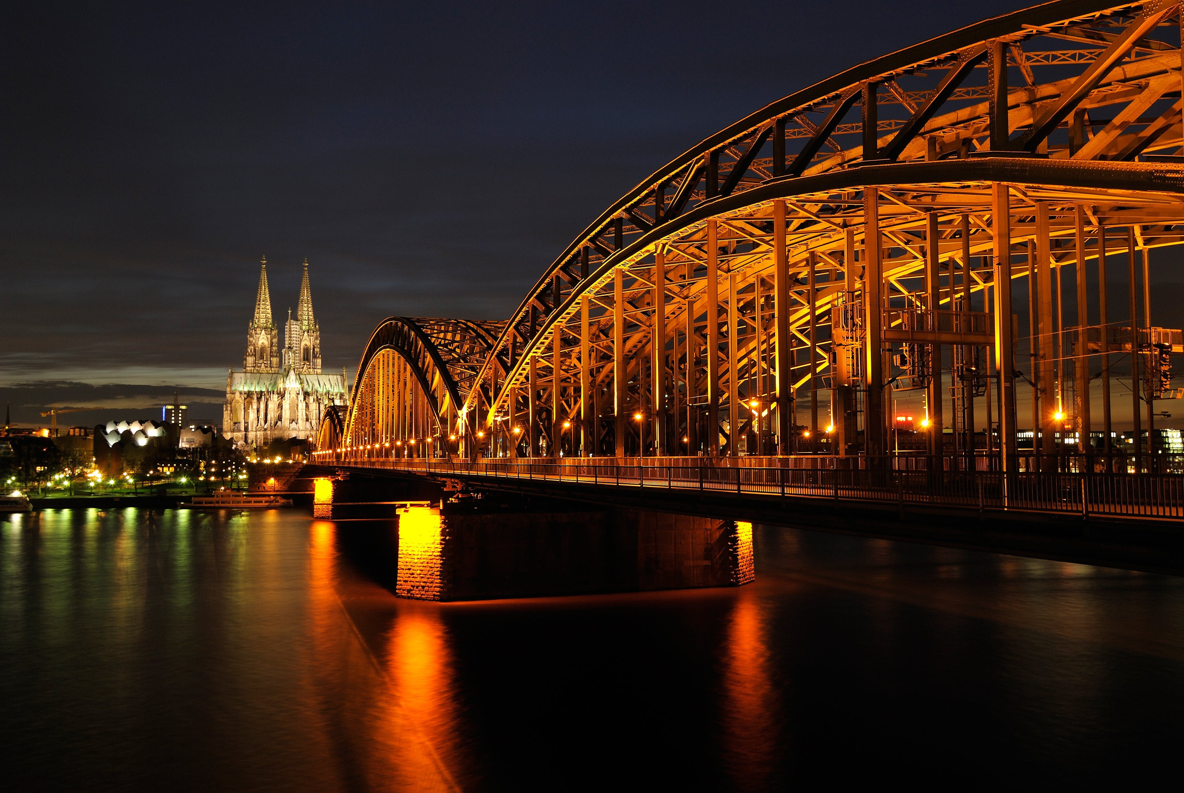 Architectural Photo of Bridge during Nighttime