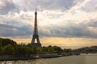 city, sky, eiffel tower