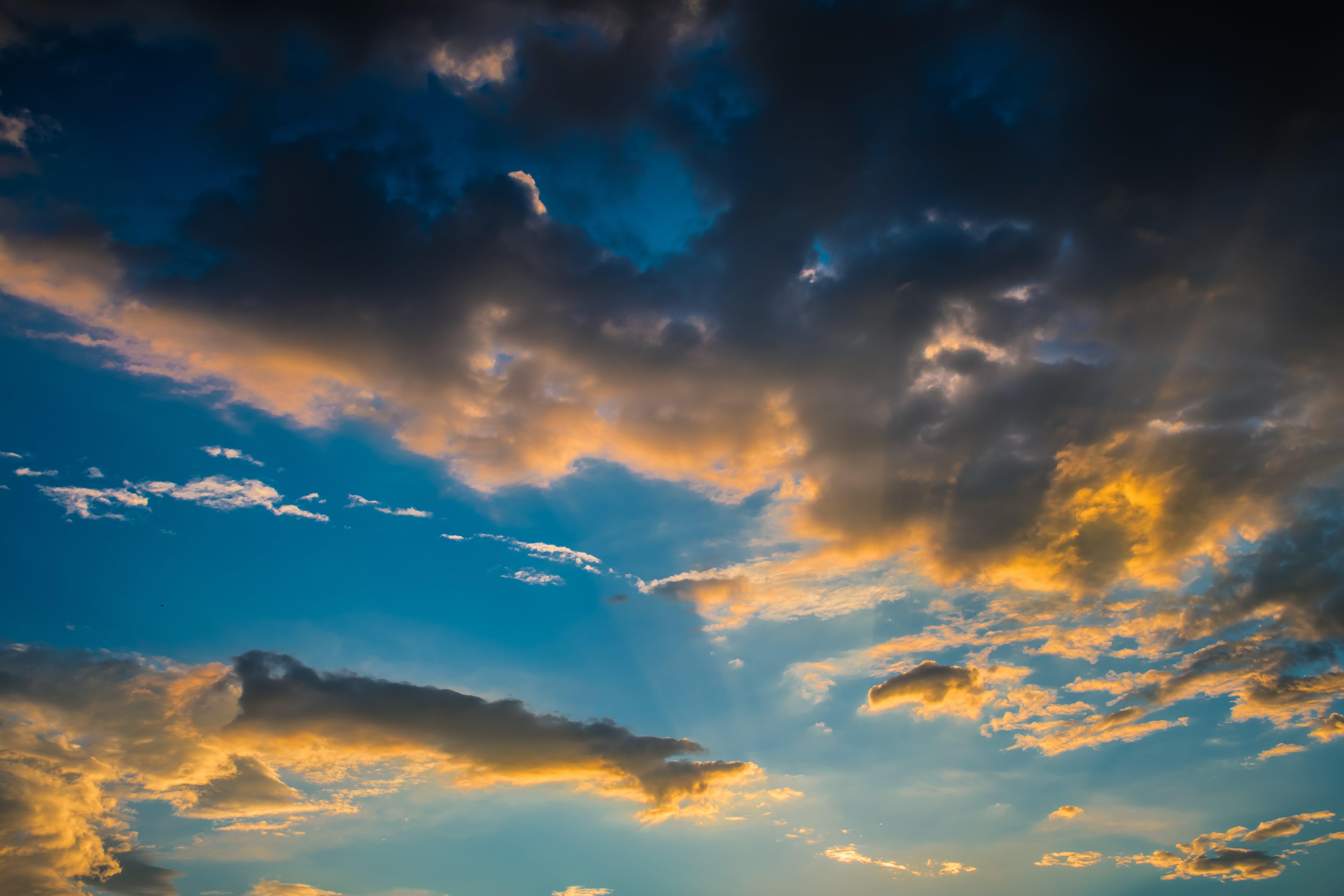 4k duvar kağıdı, bulut görünümü, bulutlar, bulutluluk içeren Ücretsiz stok fotoğraf