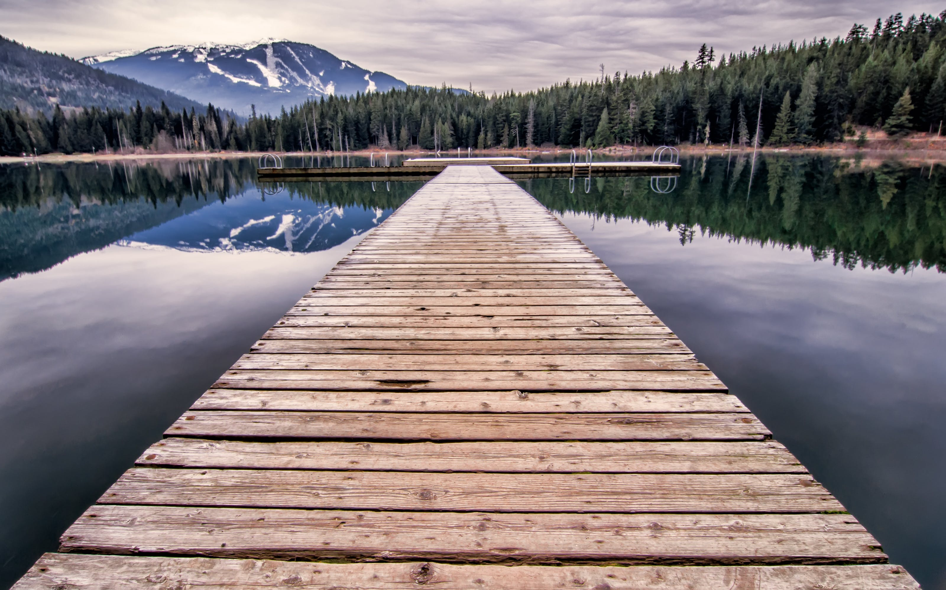 Wooden Dock at the Lake during Day