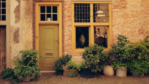 건물 외관, 건축, 문, 벽의 무료 스톡 사진