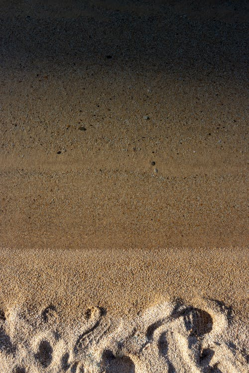 Photos gratuites de empreintes de pas, inclinaison, morne, océan