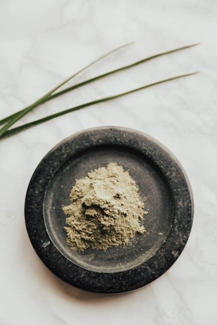 Powder on round black surface