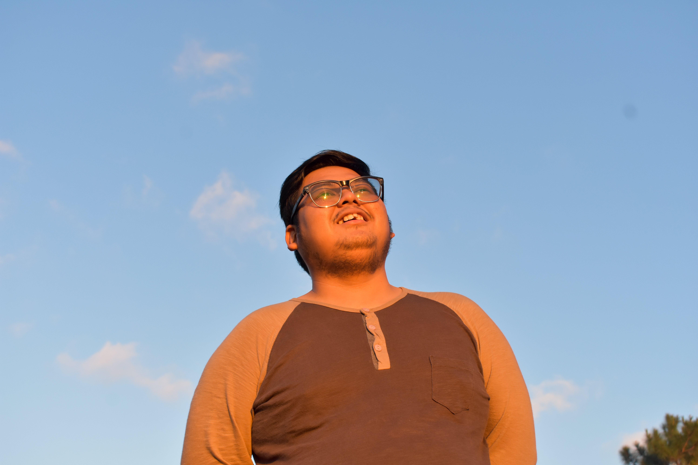 Free stock photo of blue sky, boy, friend, golden sunset