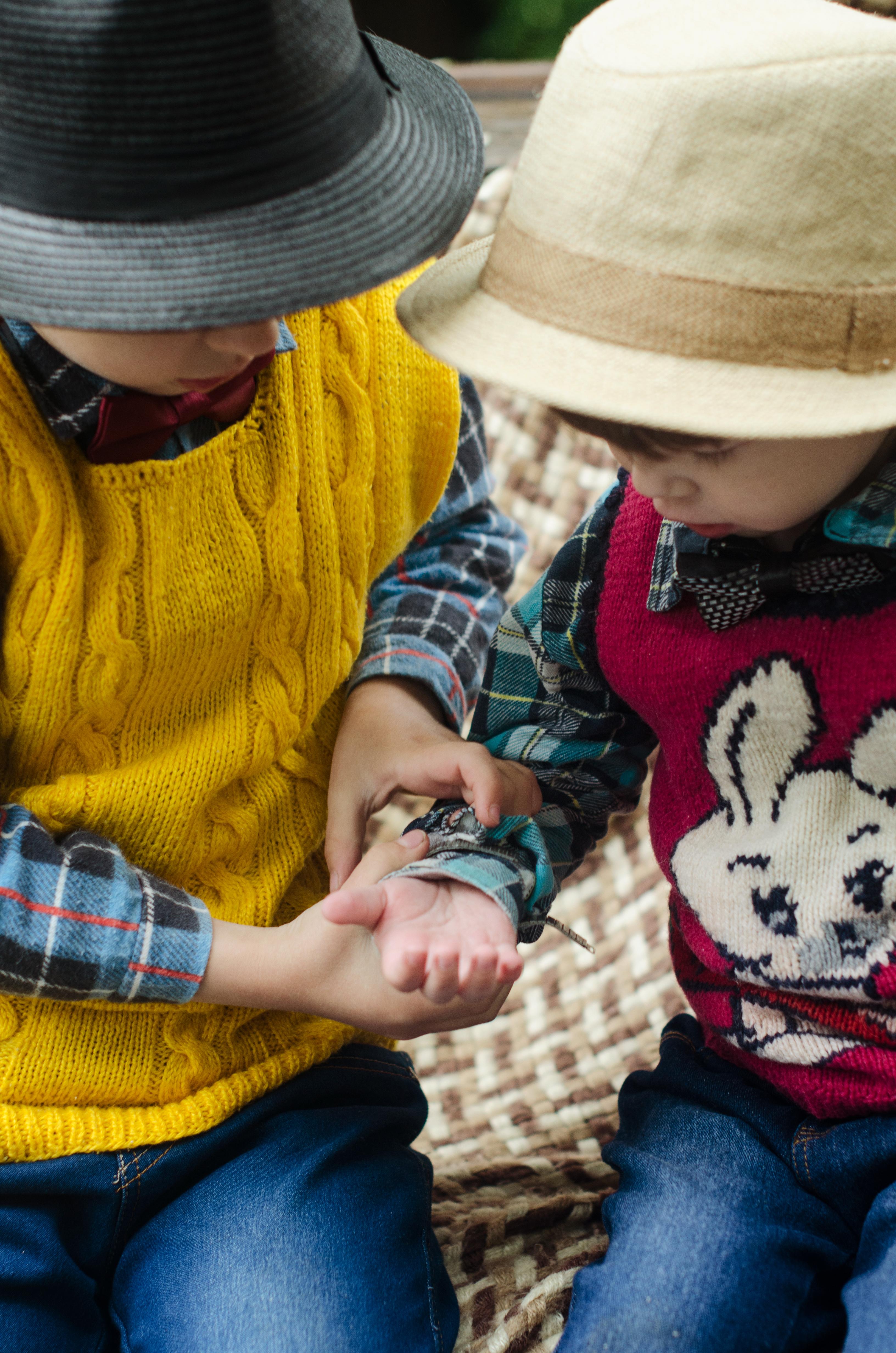 Kids Wearing Hat