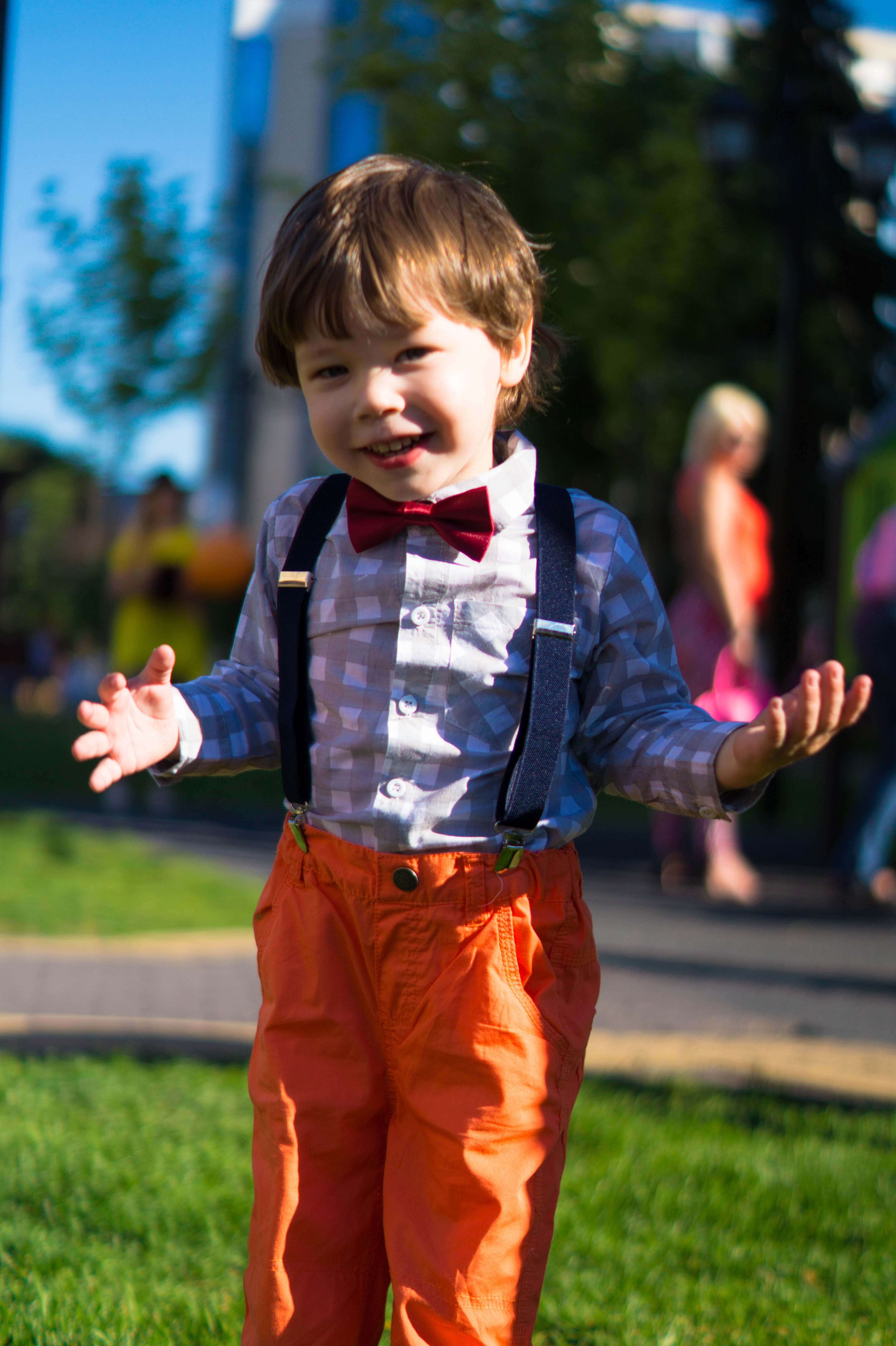 Photo of Toddler Wearing Pants With Suspenders