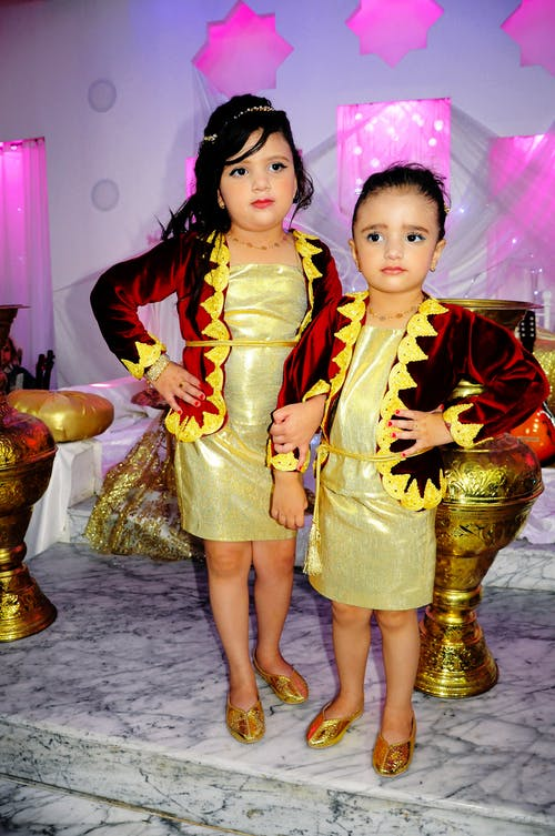 传统服装, 化妝, 可愛, 女孩 的 免费素材照片