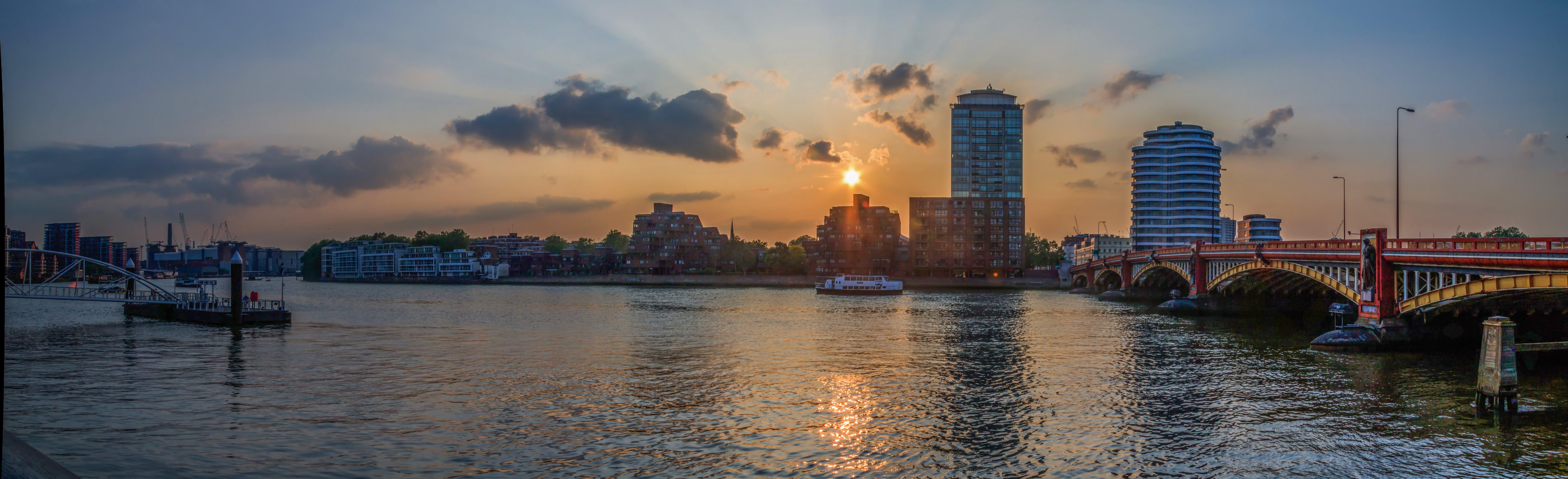 Free stock photo of city, sunset, landmark, night