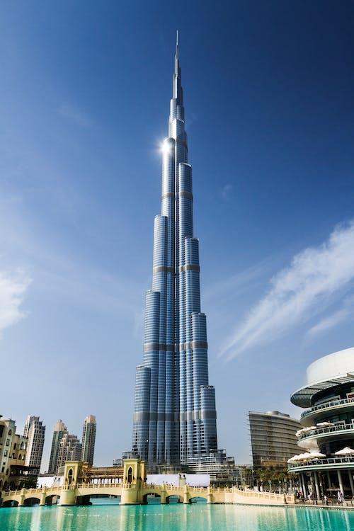 acqua, architettura, burj khalifa