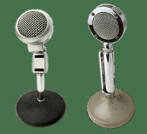 Foto d'estoc gratuïta de chrome, micròfons, micros, so