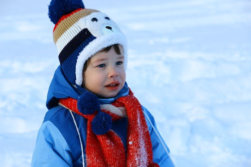 Boy Wearing Knitted Cap