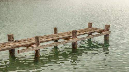 Kostnadsfri bild av landskap, natur, reflexion, trä pier