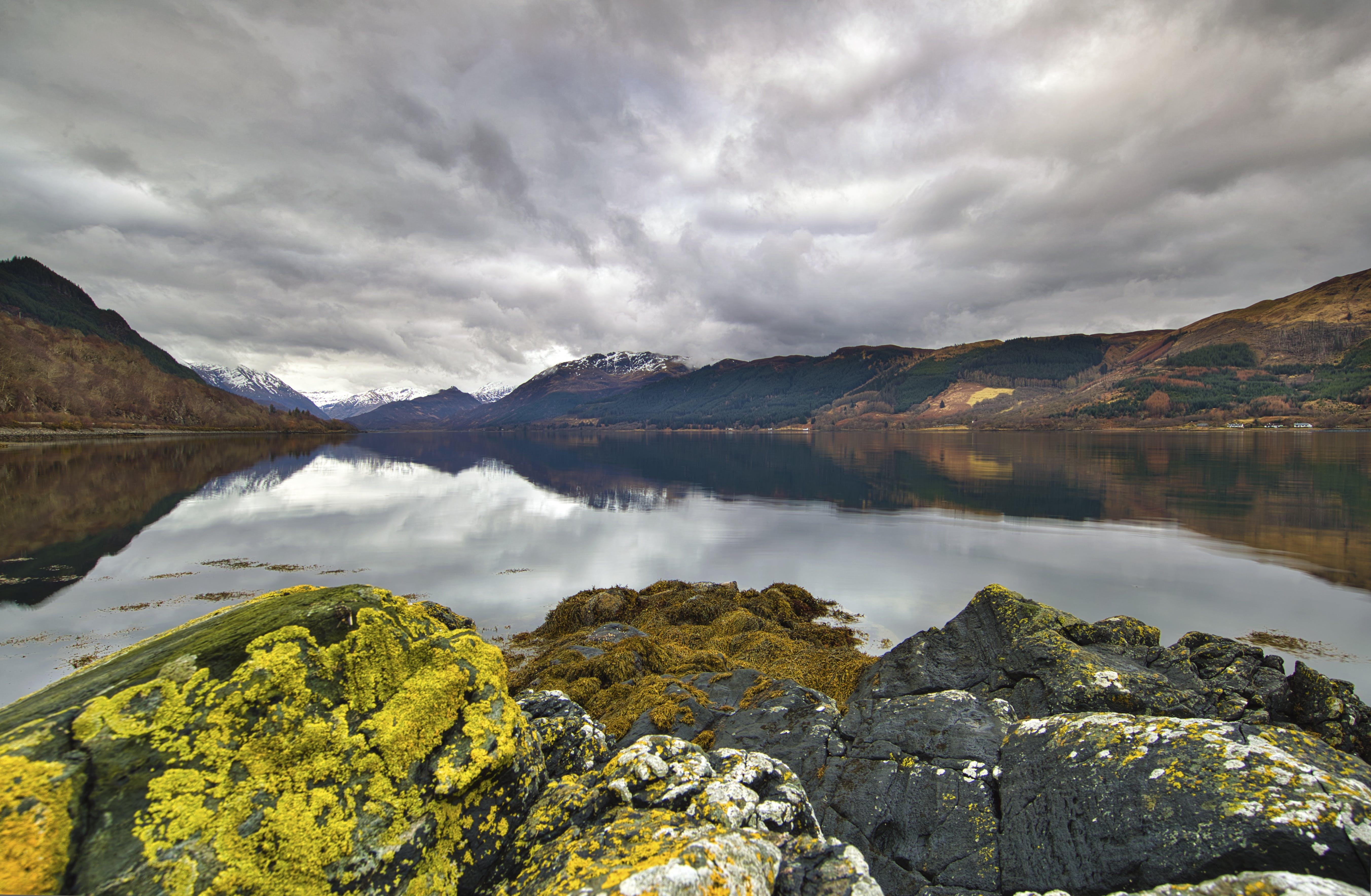 Panoramic Photography Of Mountain Near Lake