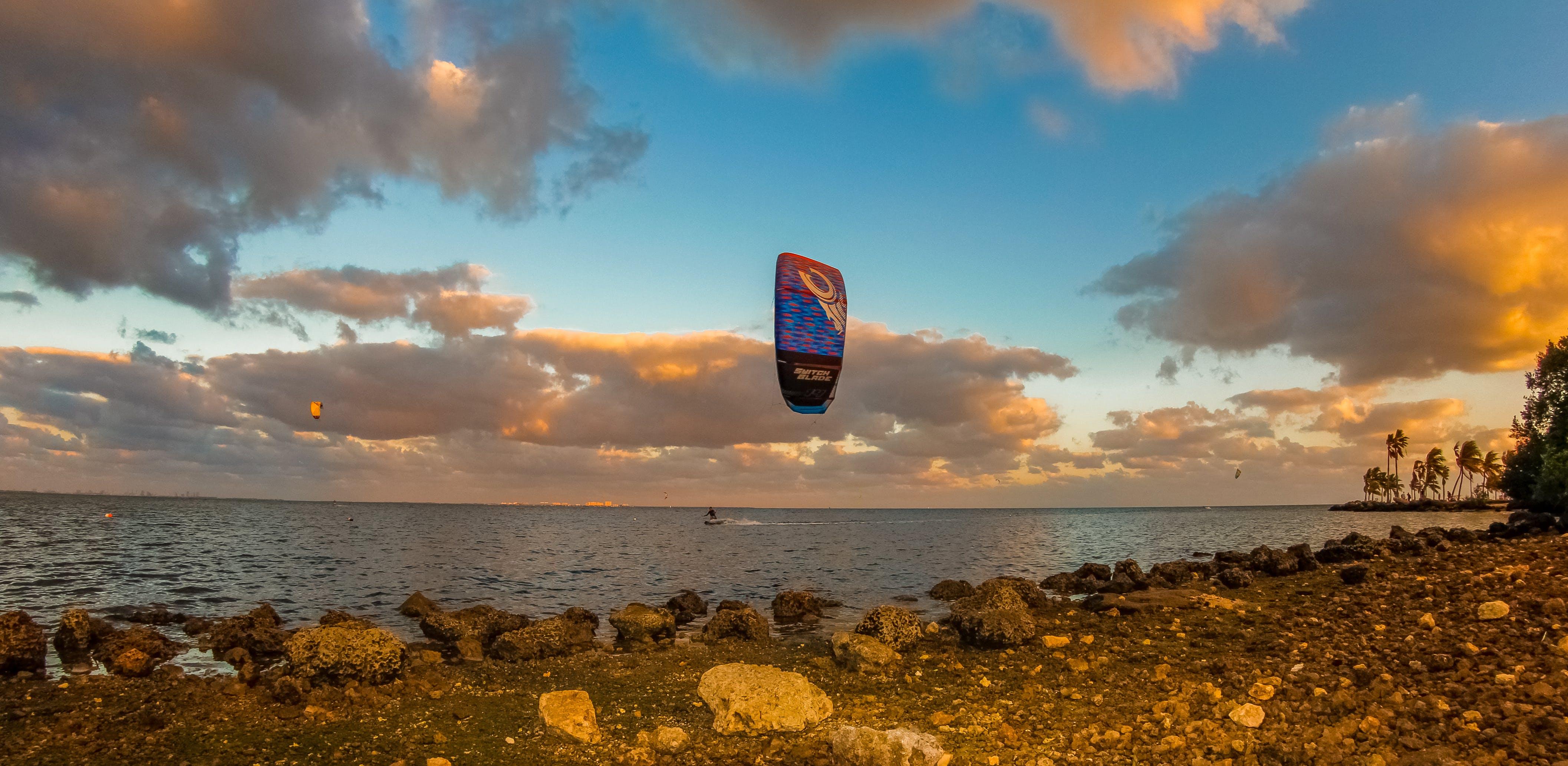 Free stock photo of beach, beachlife, kite, kiteboarding