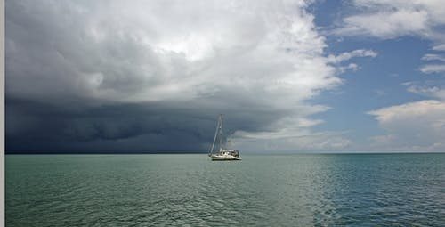 Free stock photo of caribbean, clouds, dark, ocean