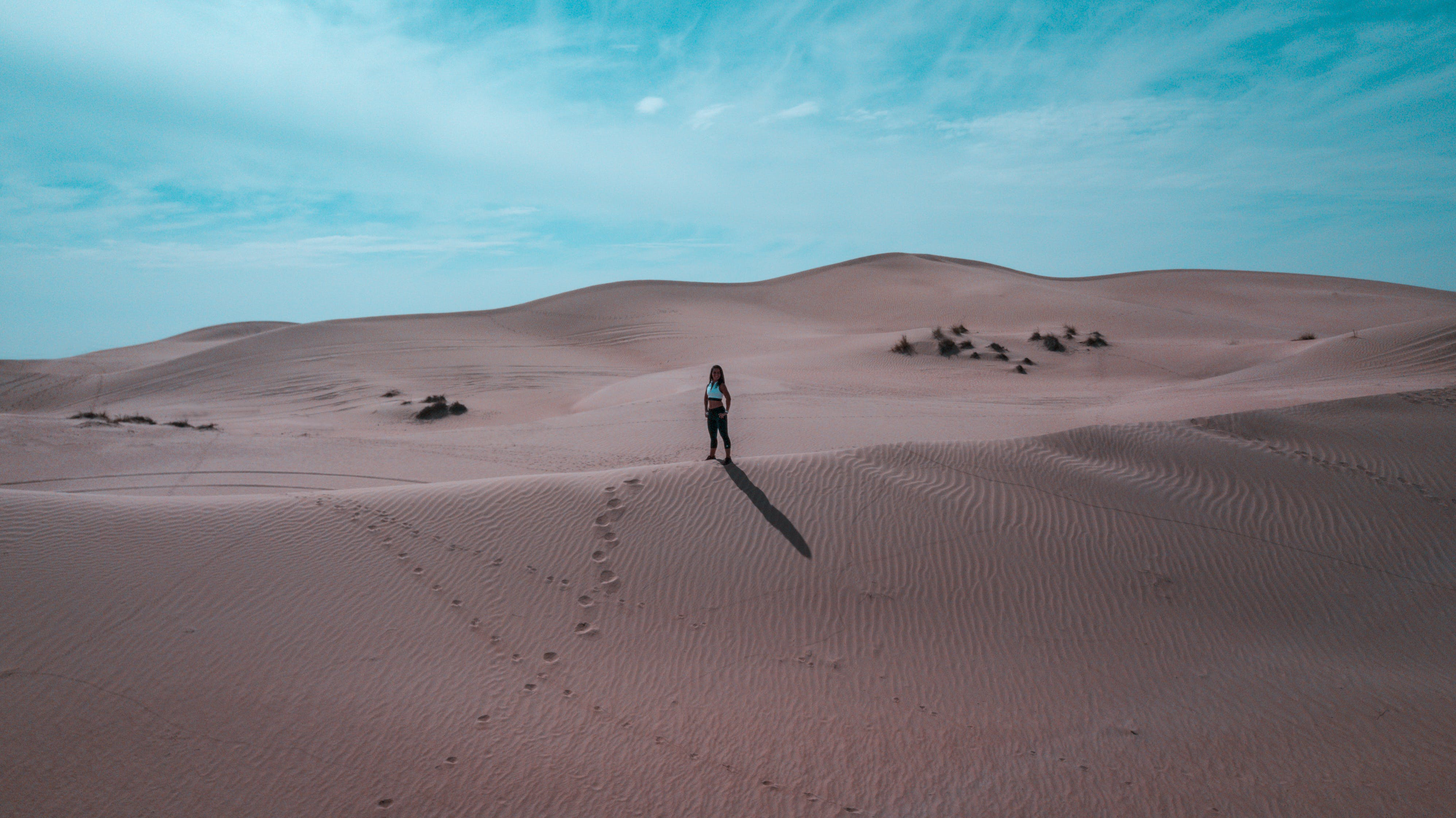 Free stock photo of desert, dubai, drone, uae