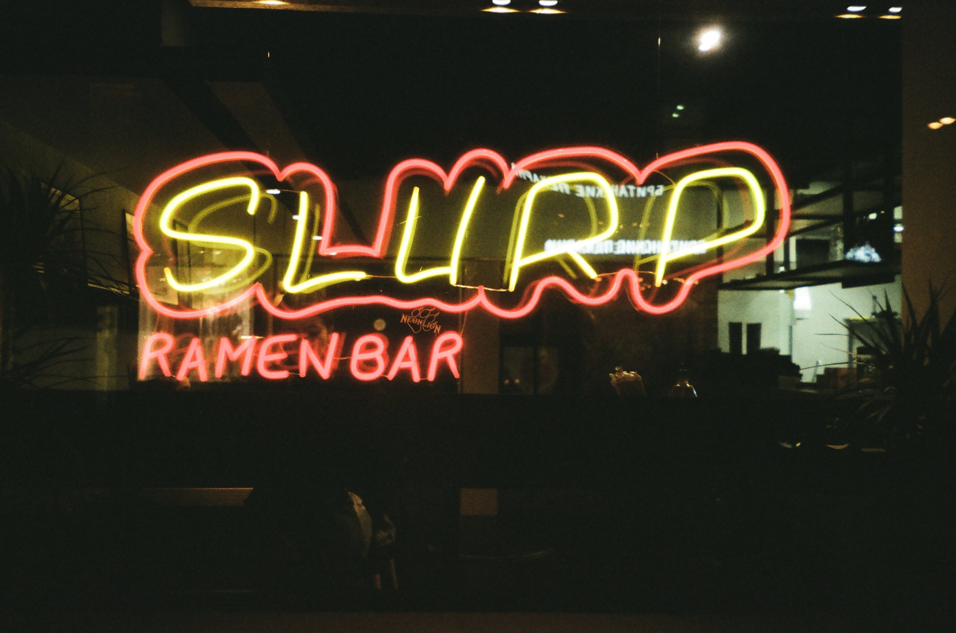 Yellow And Red Slurp Led Sign