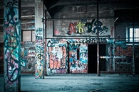 art, graffiti, building