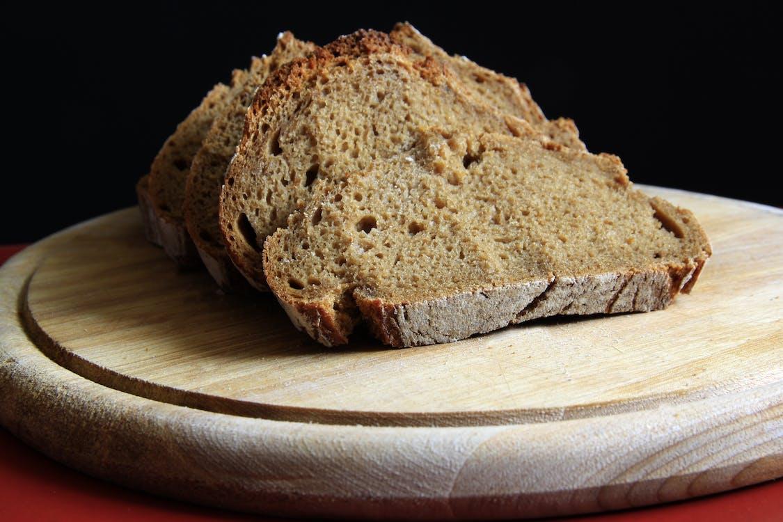 chleba, dřevo, jídlo
