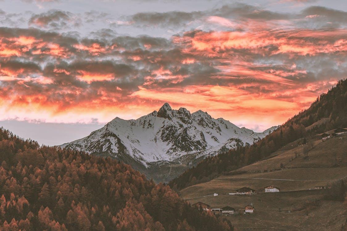 bjerge, dal, desktop tapet