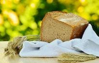 bread, food, wood