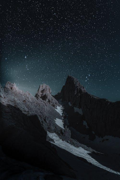 กลางคืน, กาแล็กซี, คืนที่ดาวเต็มท้องฟ้า