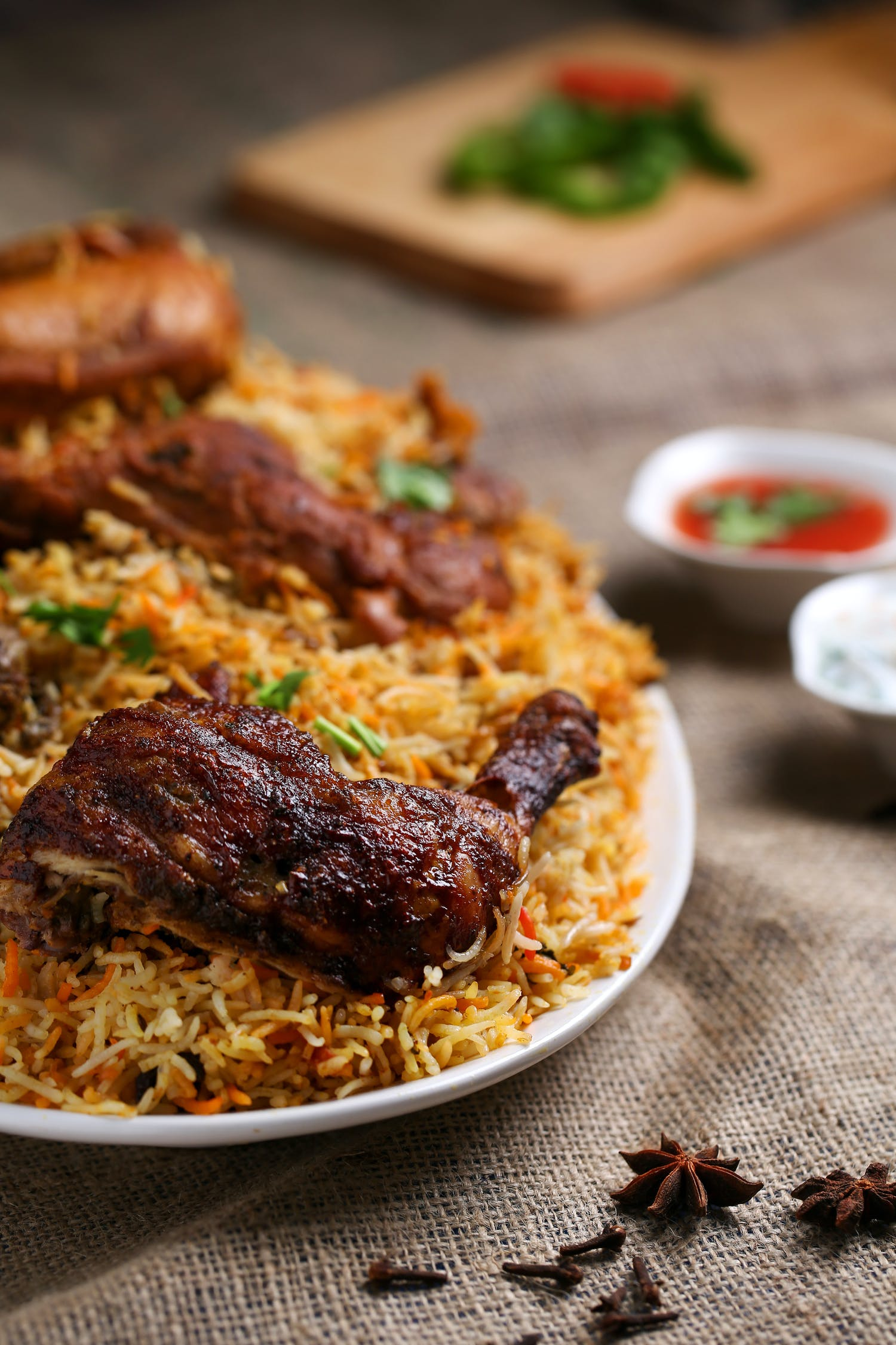 Plate of Rice and Cooked Meat