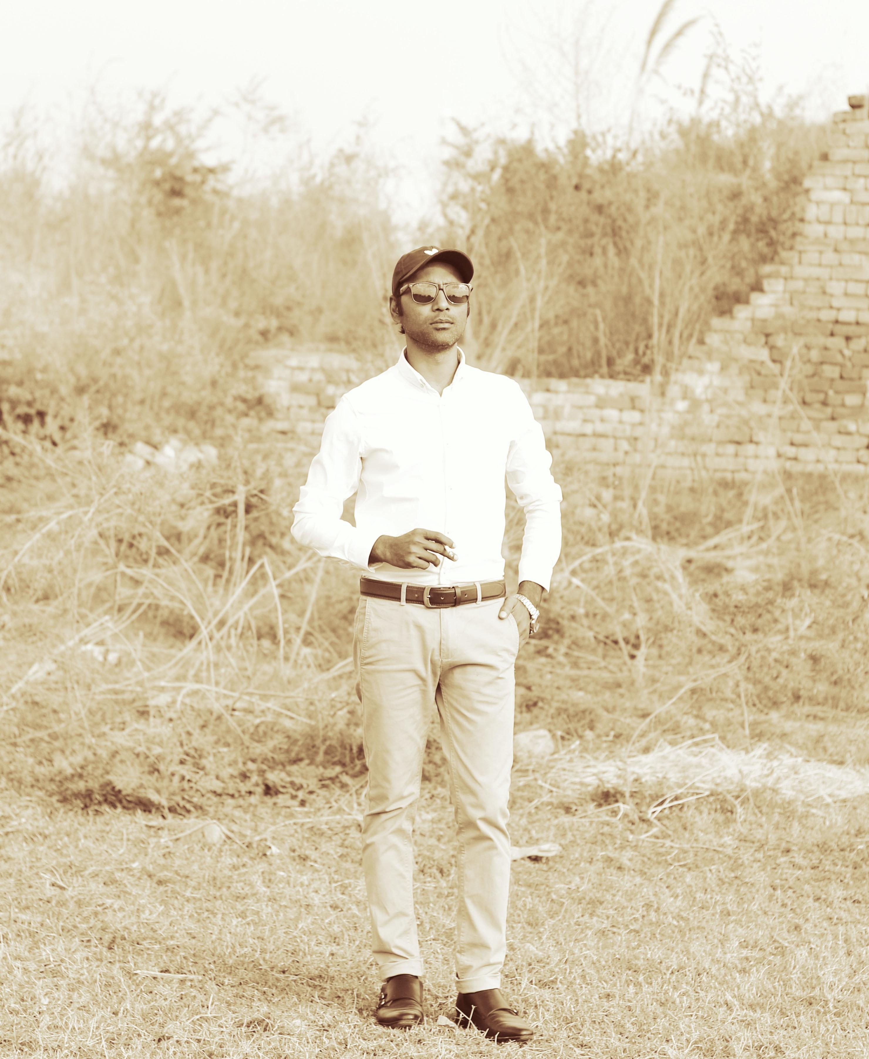 Stiefel Cognac Flach