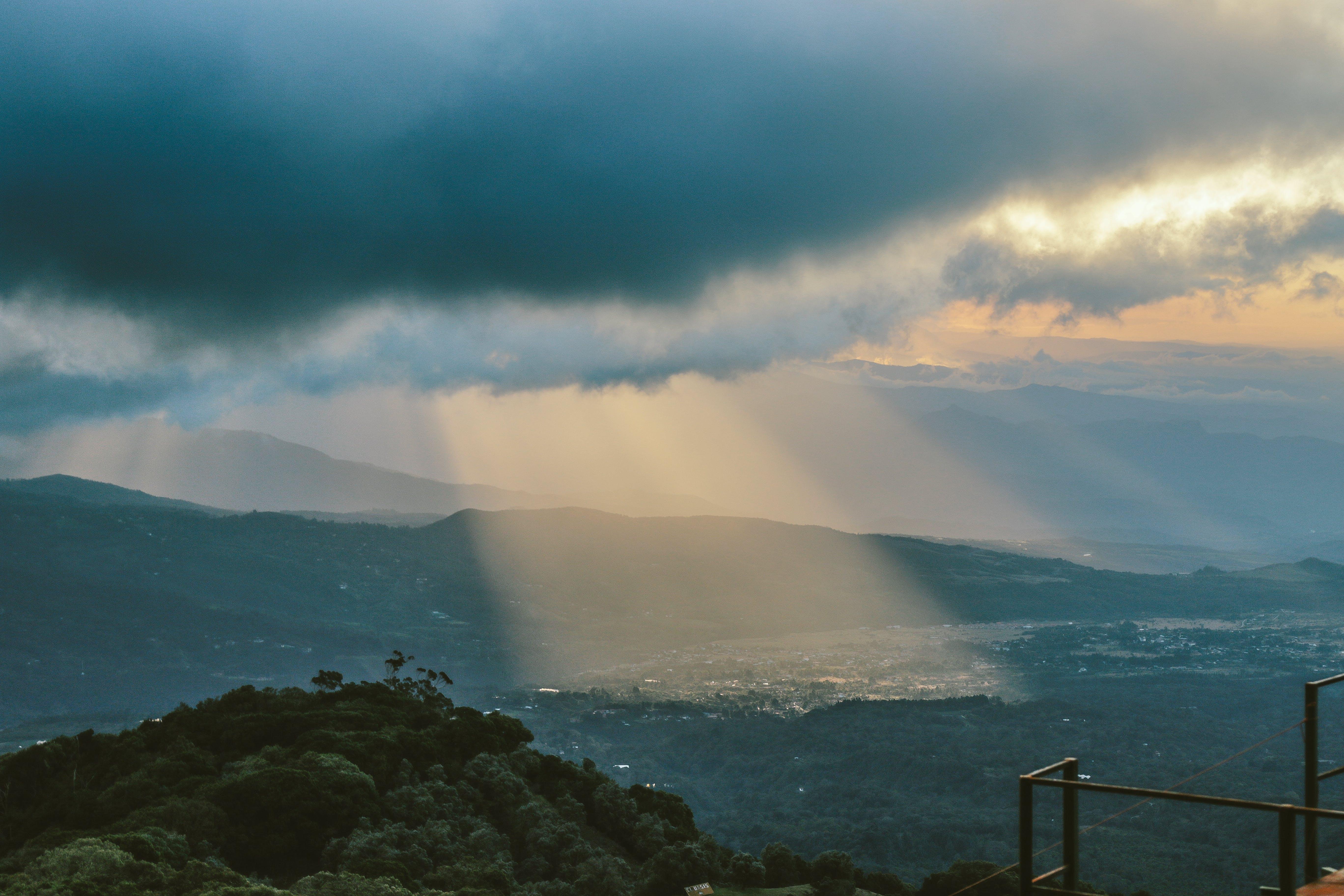 Sunlight Beaming Through Clouds
