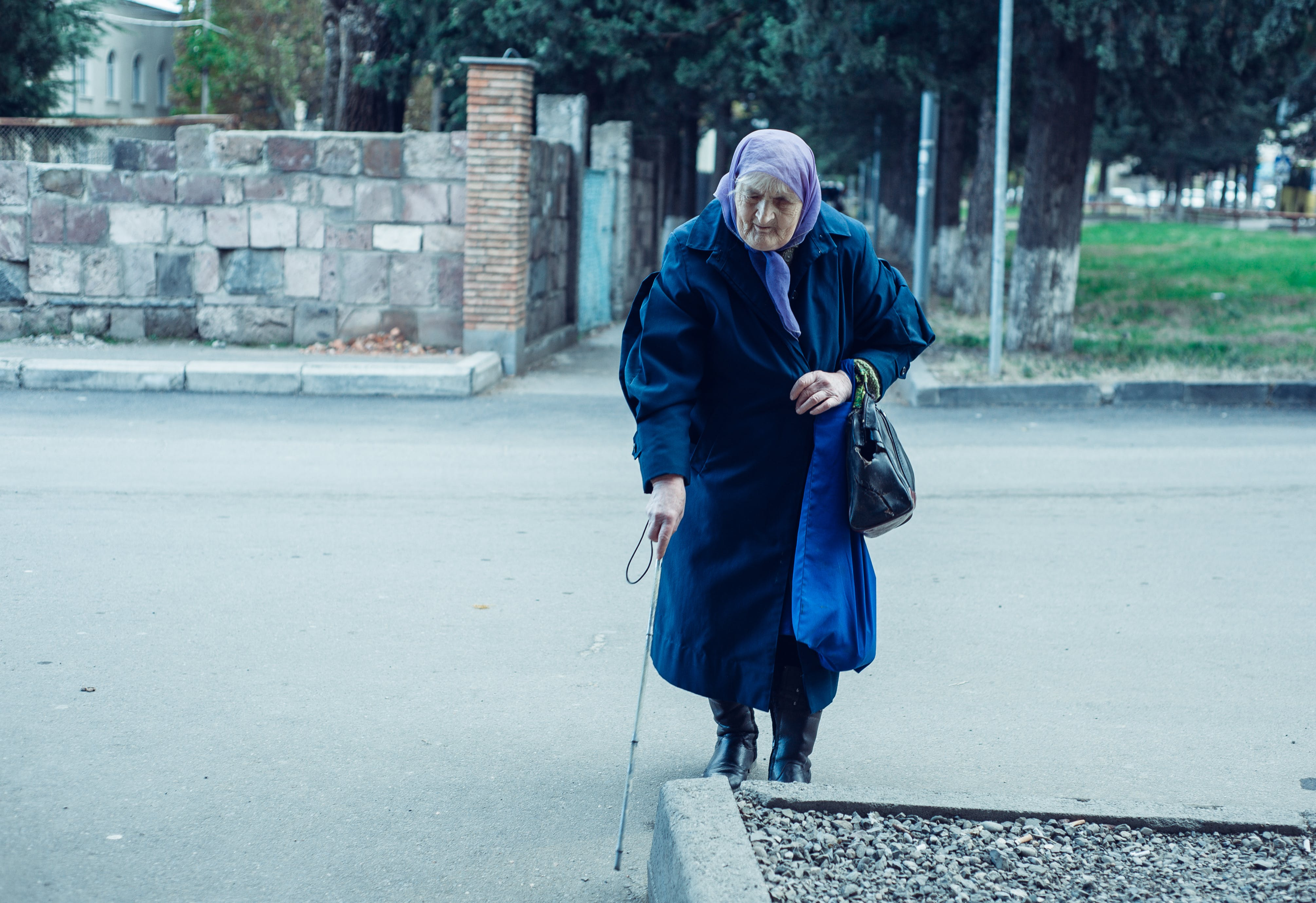Free stock photo of blind, blind oldwoman, oldwoman, poverty