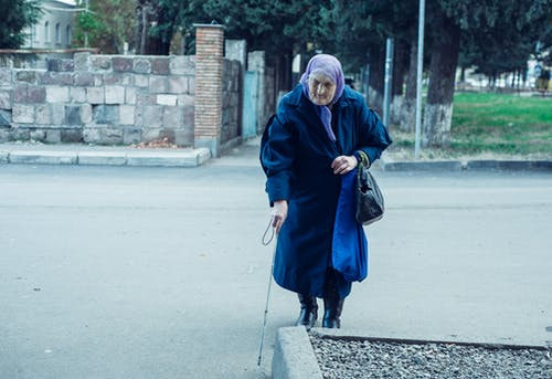 Free stock photo of blind, blind oldwoman, oldwoman