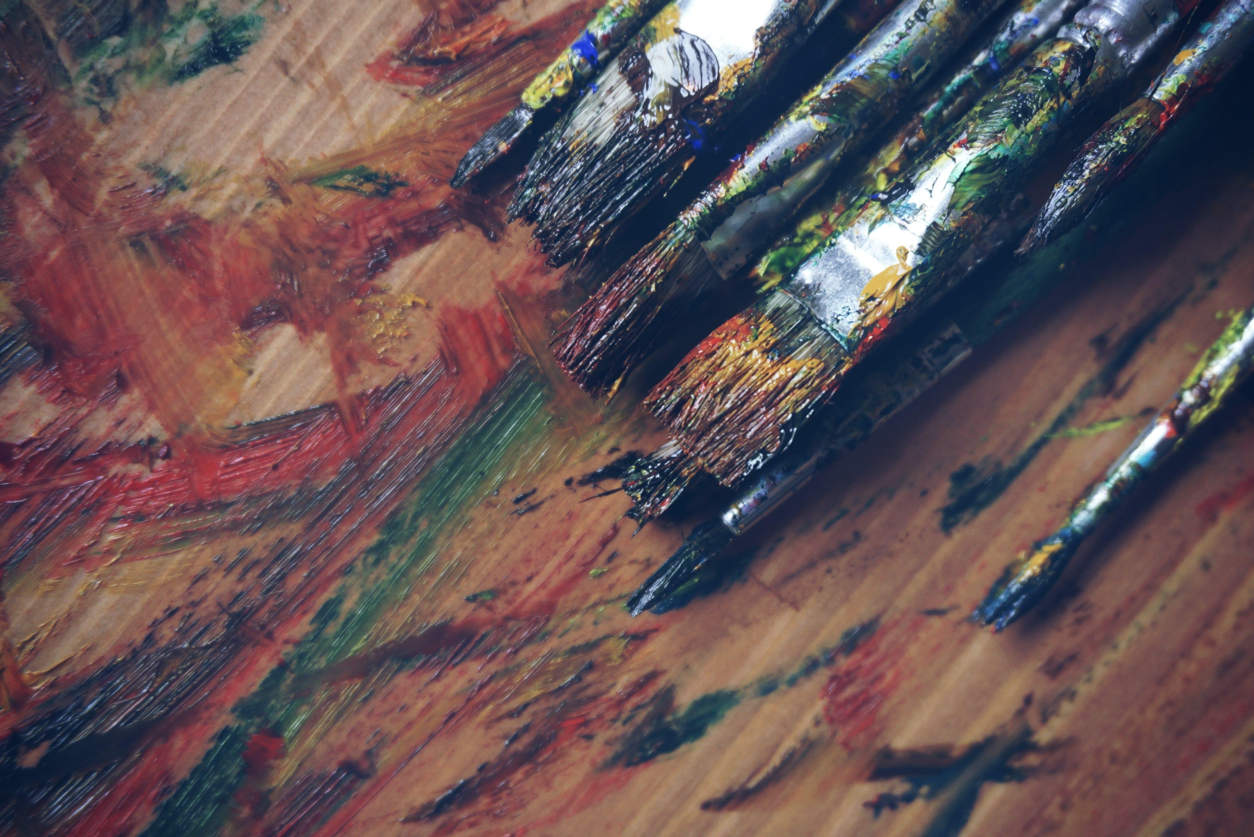 Free stock photo of art, creative, blue, brush