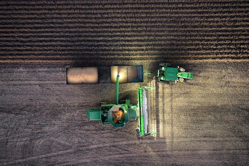Free stock photo of combine, djiglobal, drone photography