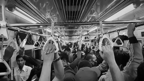 bw, ストリート写真, 白黒, 通勤の無料の写真素材