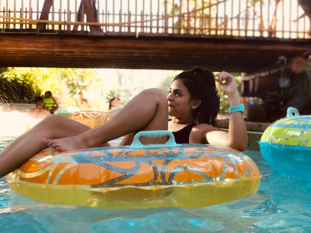 bazén, floater, osoba