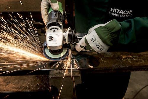 Безкоштовне стокове фото на тему «hitachi, будівництво, Електроінструмент, іскри»
