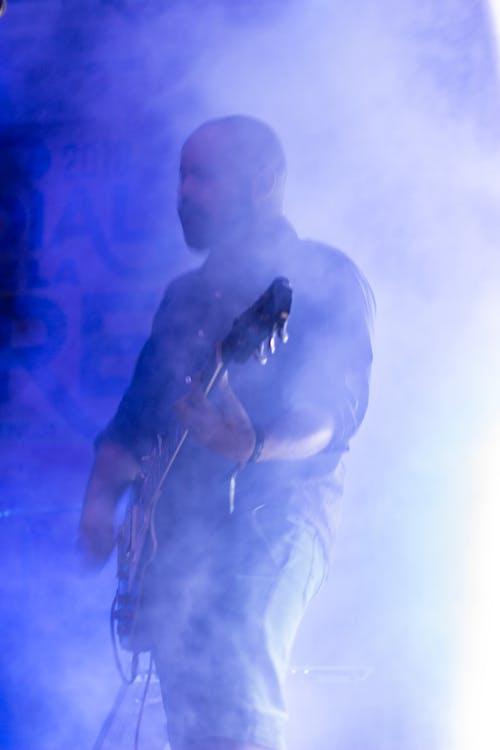 elektromos gitár, gitár ember