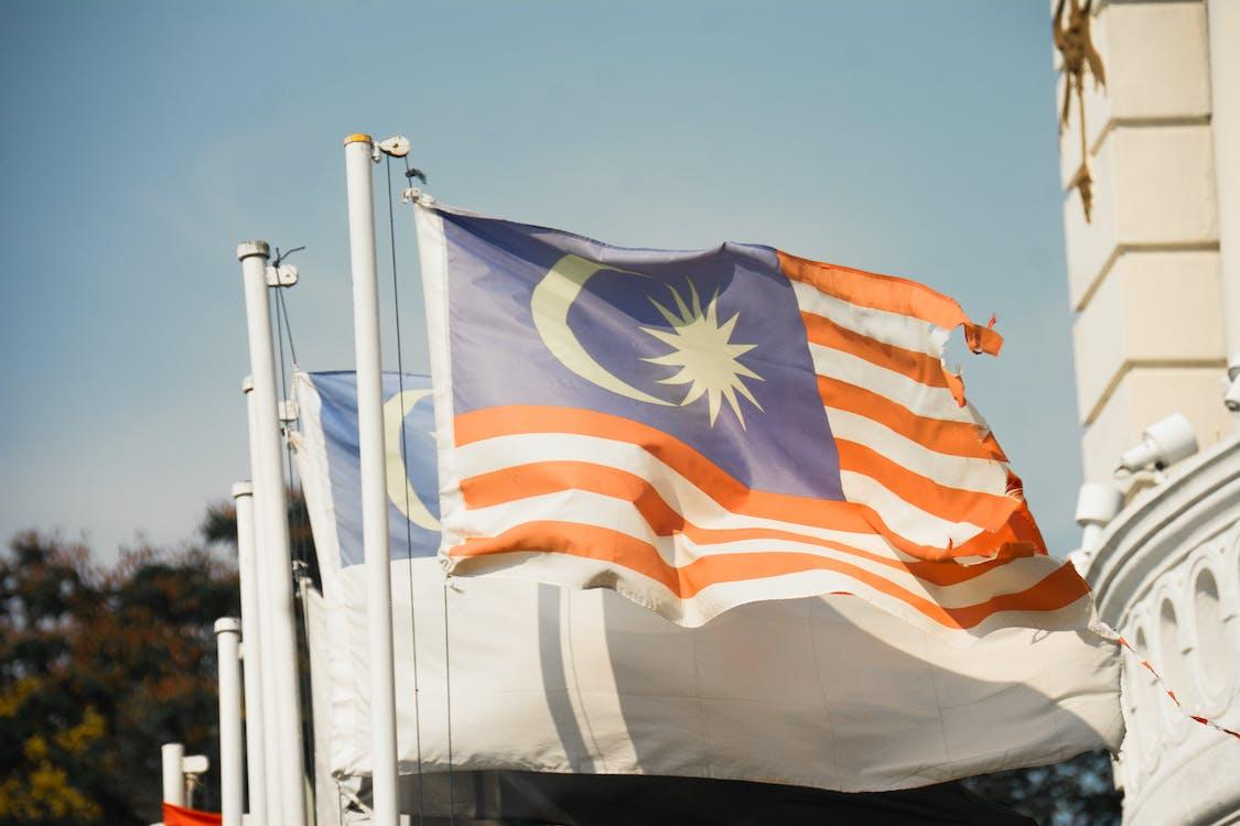 bandiera della malesia, bandiere, luce del giorno