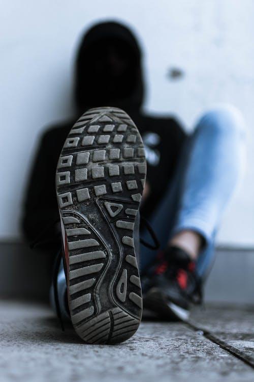 คลังภาพถ่ายฟรี ของ ข้างเดียว, รองเท้าผ้าใบ, แมโคร