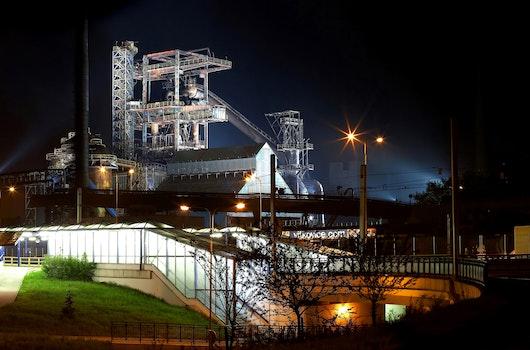 Kostenloses Stock Foto zu nacht, dunkel, gebäude, industrie