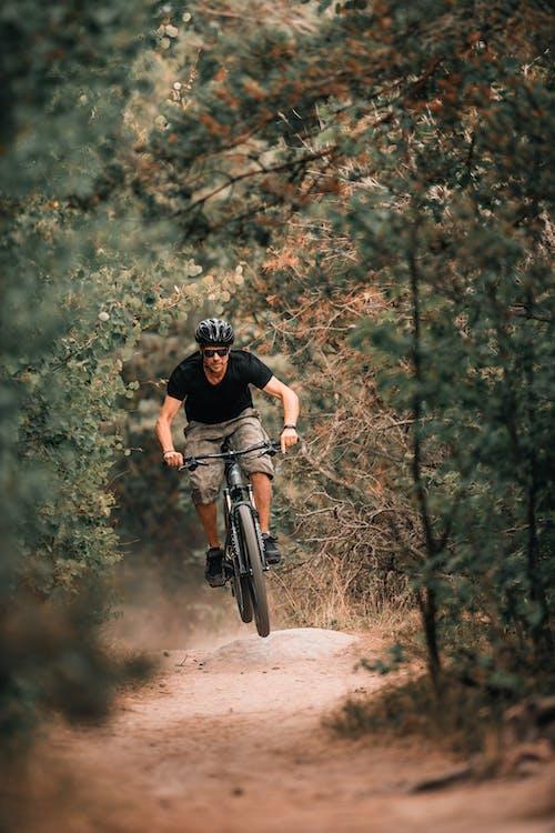 cyklista, dobrodružství, horské kolo