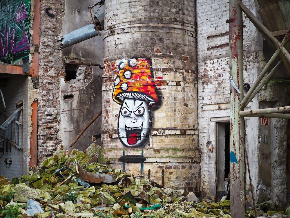 gebäude, graffiti, kreativ