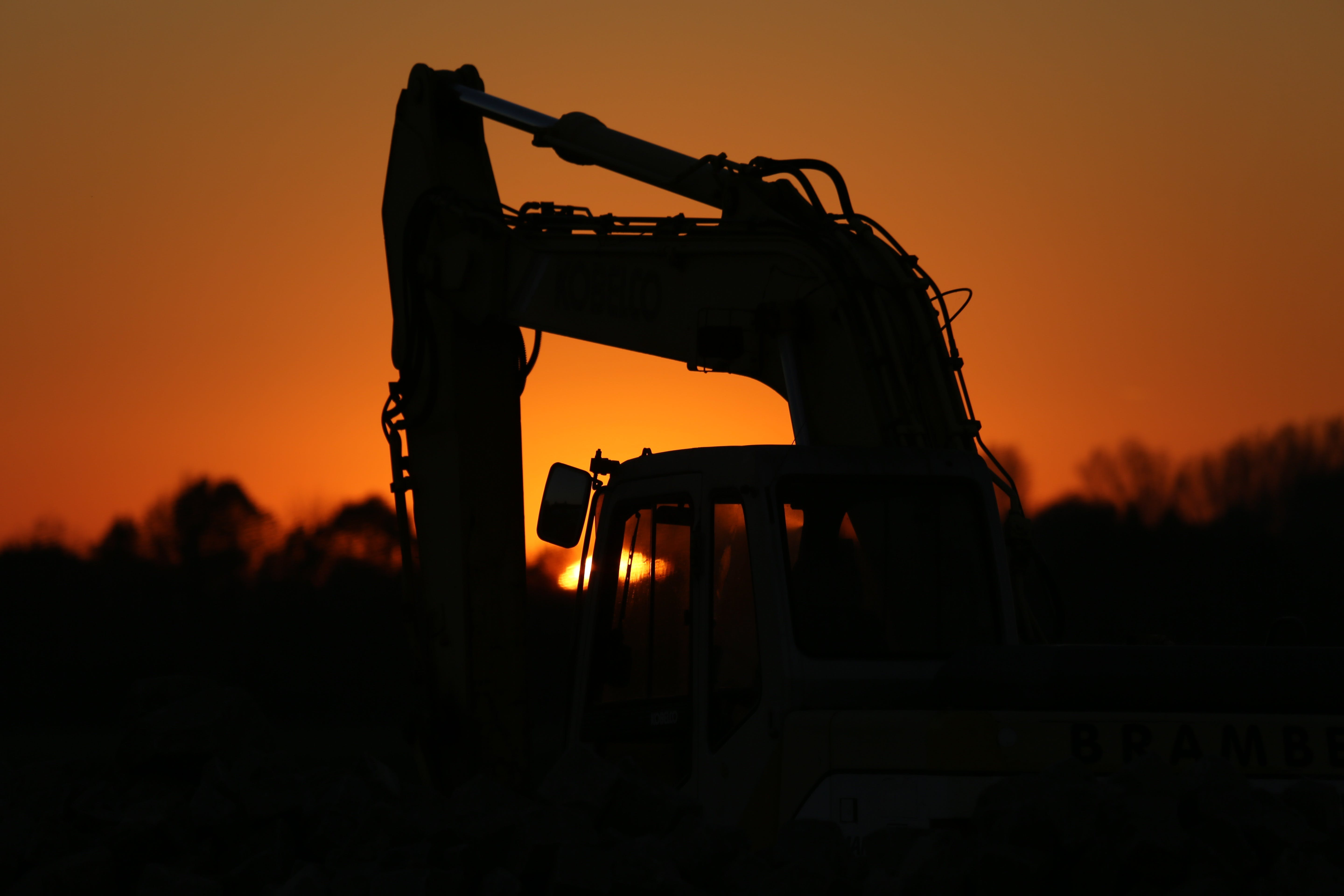 Silhouette of Truck during Sunset