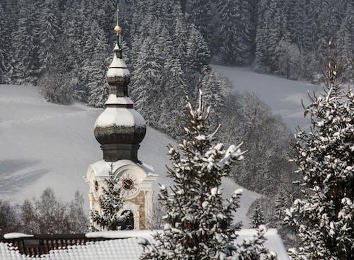 Kostnadsfri bild av alperna, bergen, kall, kyrktorn