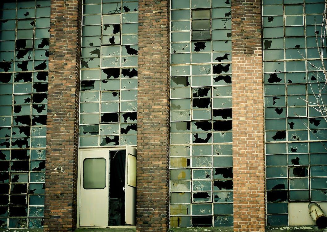 antiga fábrica, aparência, apodrecer