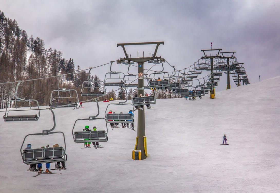 inverno, le alpi, montagne